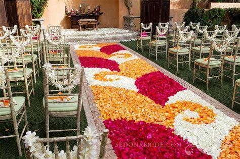 rose petal aisle runner for outdoor weddings   OneWed.com