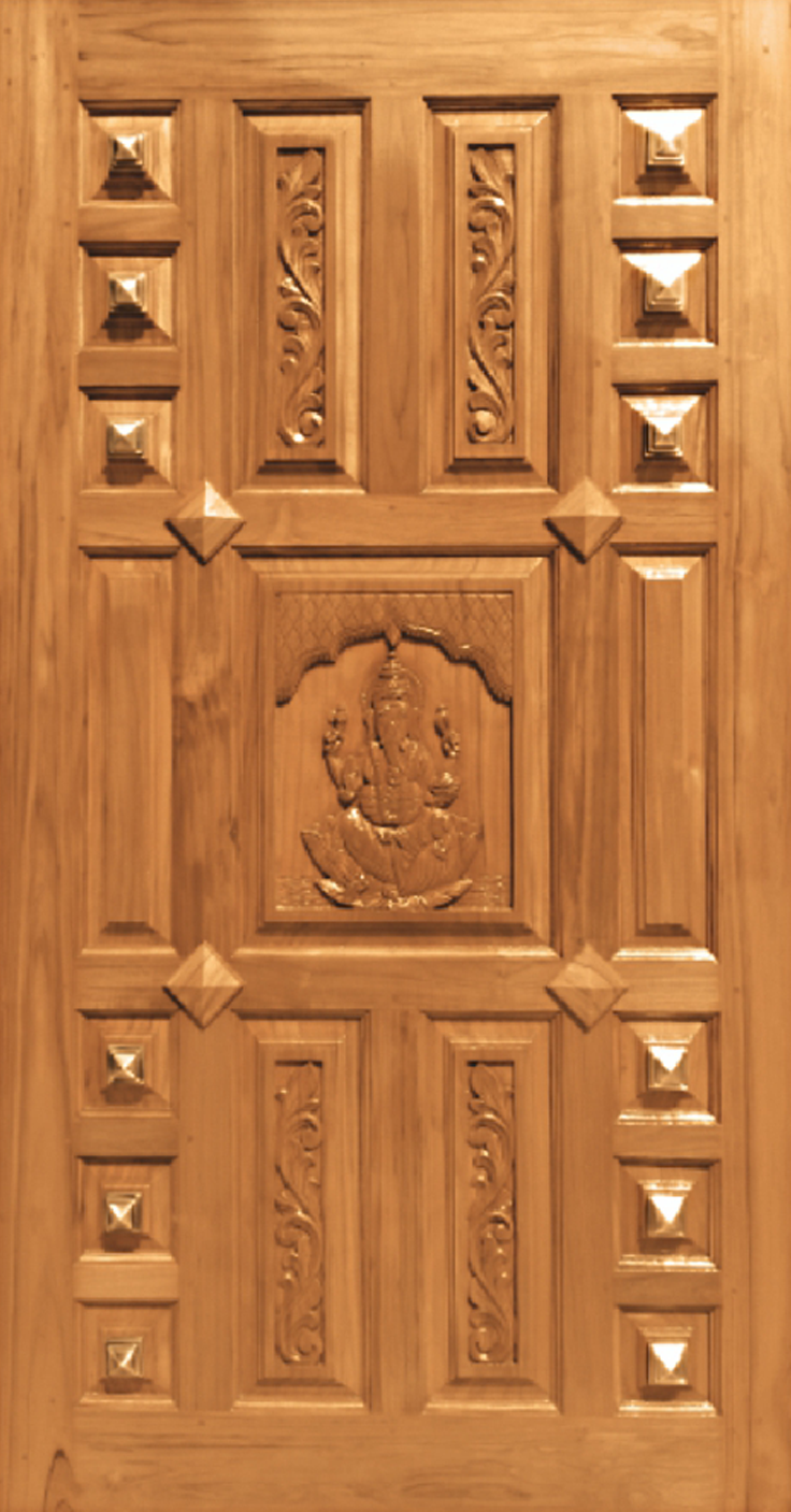 Teak Wood Pyramid Design Jj Doors