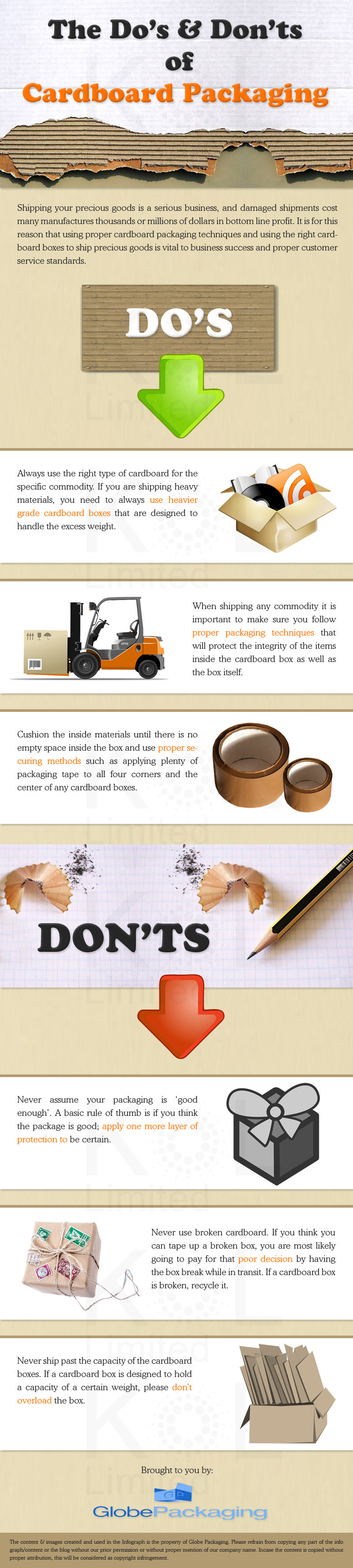 Infographic: The Do's And Don'ts Of Cardboard Packaging