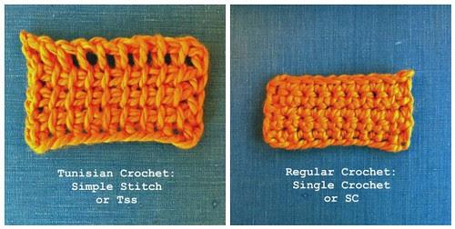 Tunisian Crochet Comparison with Crochet