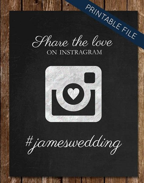 17 Best ideas about Instagram Wedding Sign on Pinterest