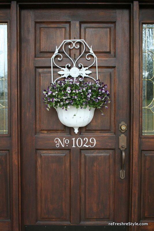 Flower planter for the front door