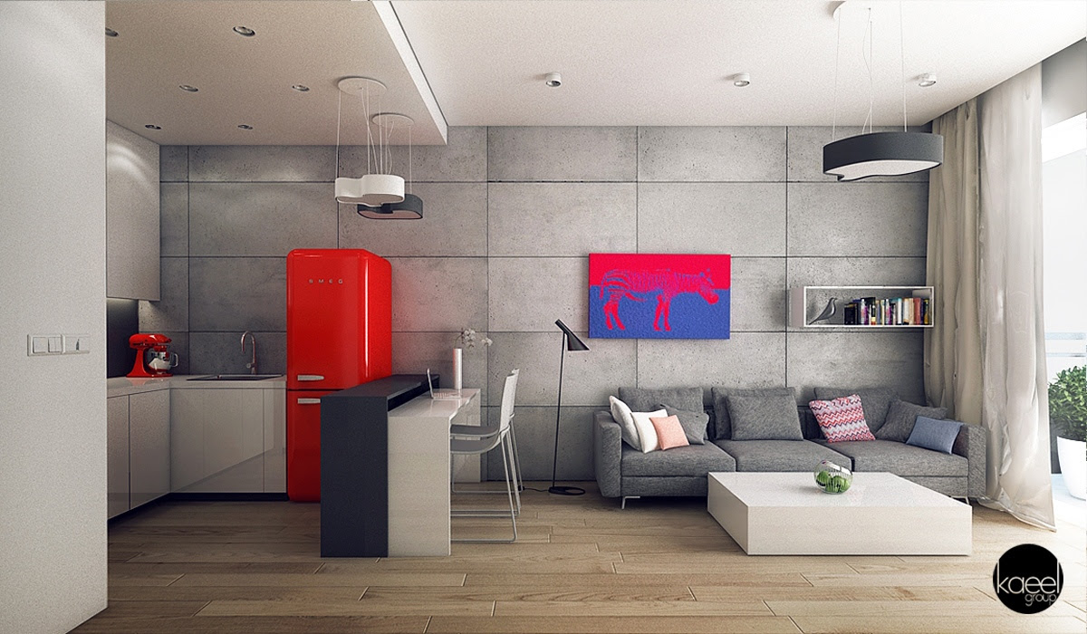 13 Open Concept Apartment Interiors For Inspiration