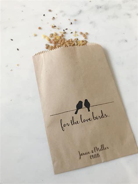 Love Birds Wedding Favor Bags   SALTED Design Studio
