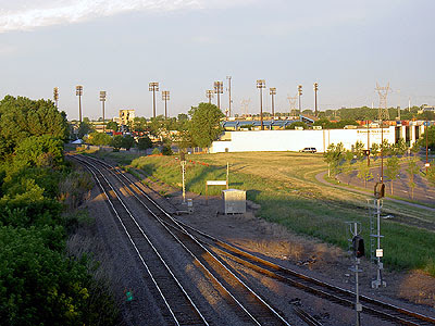 Midway Stadium from Transitway