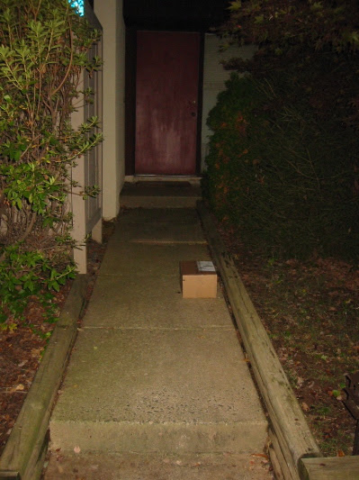 Package on the Walkway