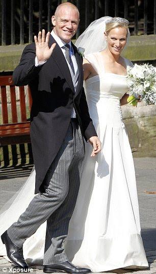 Mais casamentos reais: Zara Phillips e Mike Tindall (à esquerda)