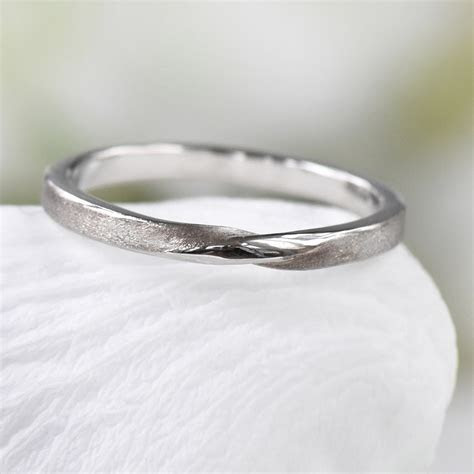 2mm Ribbon Twist Wedding Ring   Ethical Wedding Bands