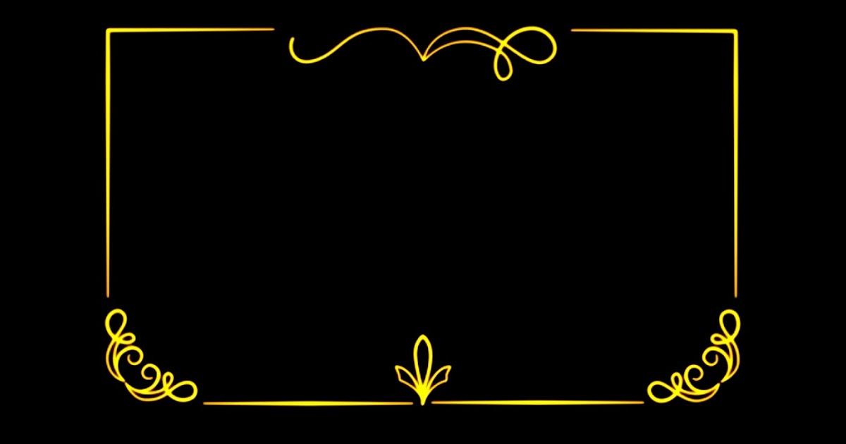 اطار ذهبي مفرغ للتصميم Bertul