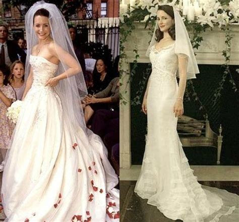 Charlotte York's wedding gowns on Sex and the City