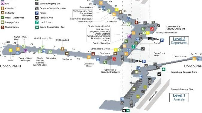 miami airport metrorail map