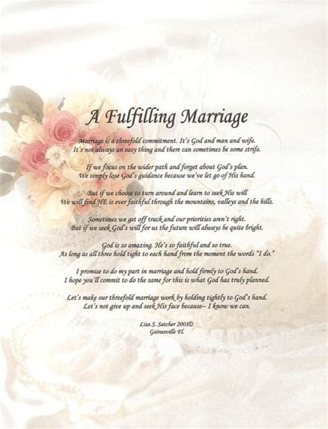 Godly Wedding Poems     Inspirational Christian Poetry