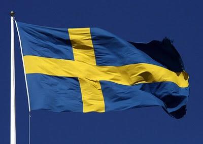 Den vackra svenska flaggan - som är en import