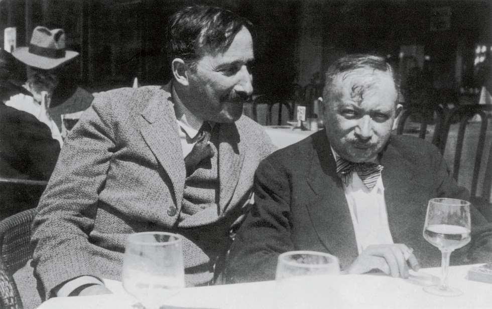 Stefan Zweig y Josef Roth en Ostende (Bélgica) en 1936.