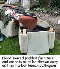 flood damaged furniture