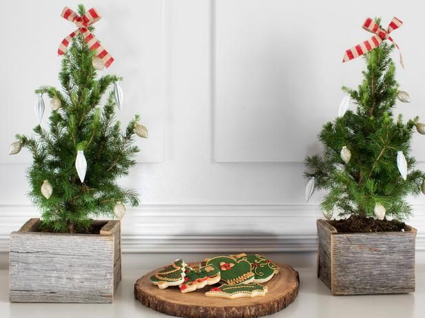 Pine Tree Planters - 10 Rustic-Chic Holiday ...   Reclaimed wood