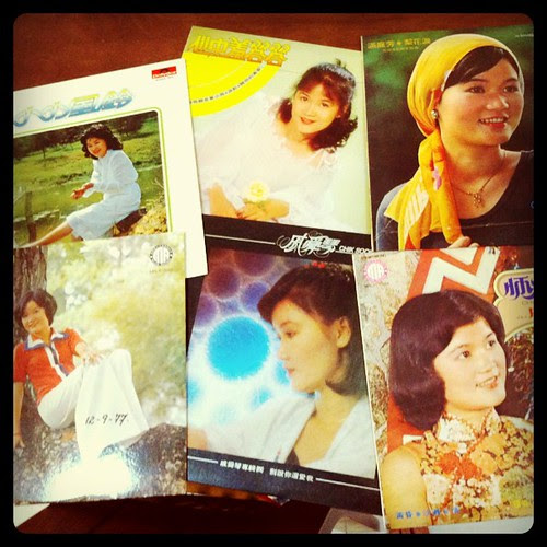 Dug out old records of mom (she was a singer before marriage) to use as film props