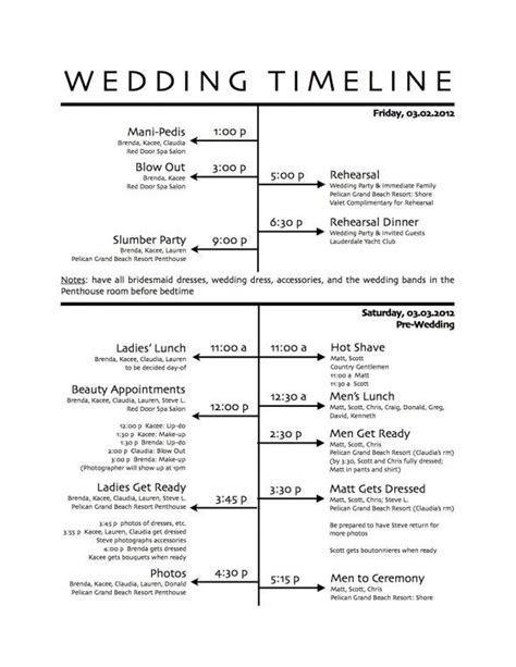 The 25  best ideas about Wedding Day Schedule on Pinterest