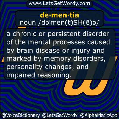 dementia 11/04/2015 GFX Definition