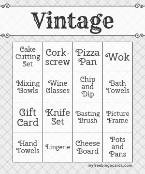 Vintage Bingo Theme