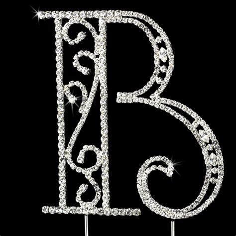 Romanesque ~ Swarovski Crystal Wedding Cake Topper ~ Letter B