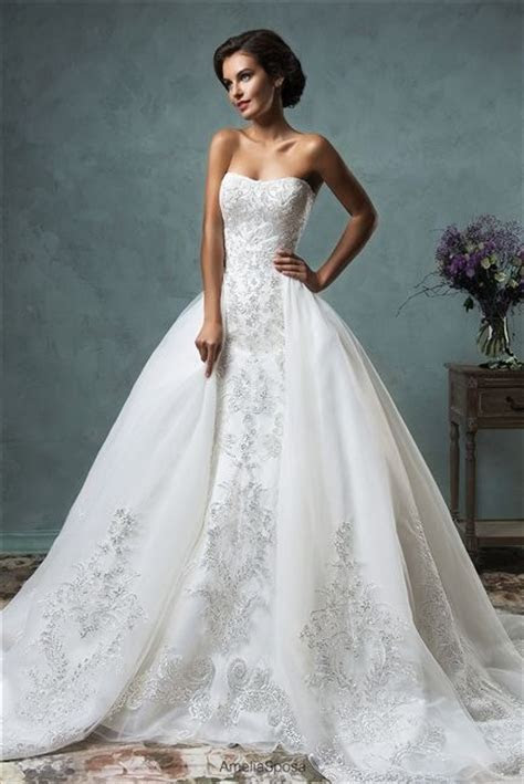 2016 Convertible #Wedding Dress! Two Dresses in One
