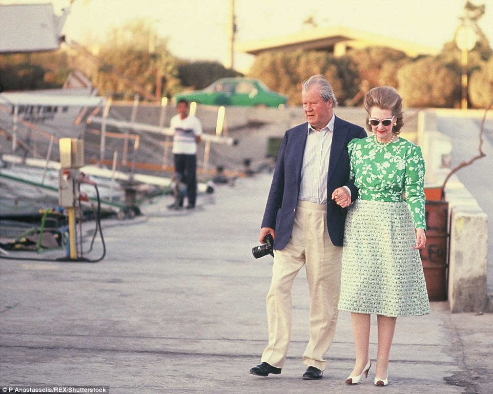 Earl Edward Spencer and Countess Raine Spencer - her second husband - on holiday together in Athens, Greece, in June 1989