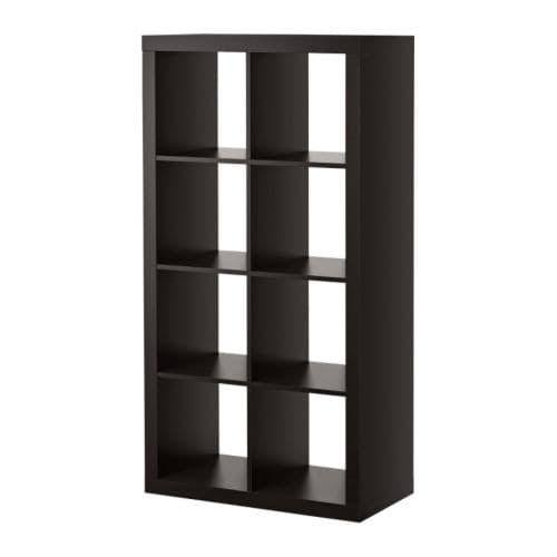 "EXPEDIT Bookcase, black-brown Width: 31 1/8 "" Depth: 15 3/8 "" Height: 58 5/8 "" Max load/shelf: 29 lb  Width: 79 cm Depth: 39 cm Height: 149 cm Max load/shelf: 13 kg"