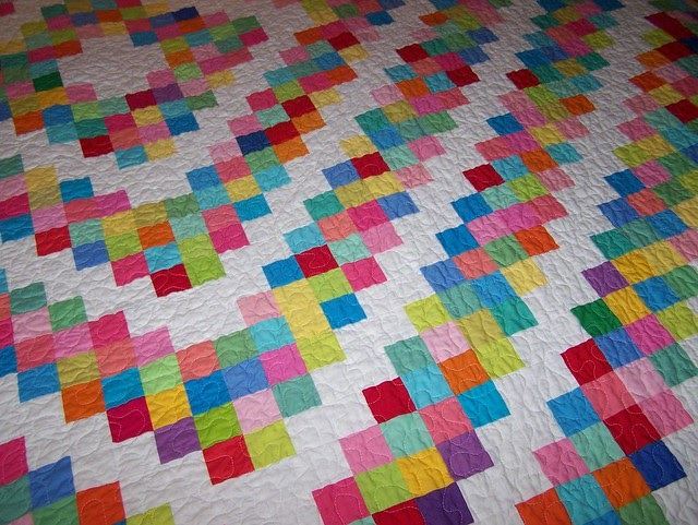 Busy Hands Quilts Custom Lap Sized Barn Raising Quilt