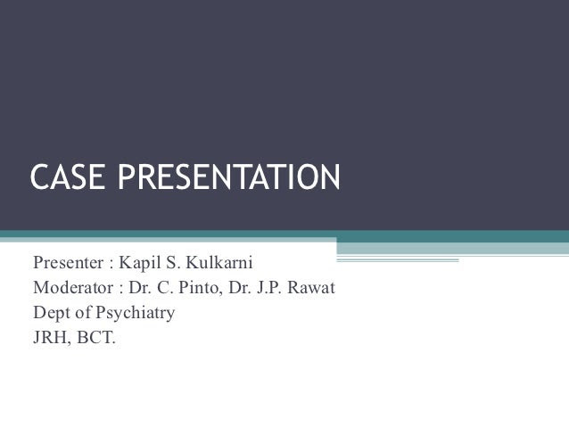 Case presentation geriatric depression