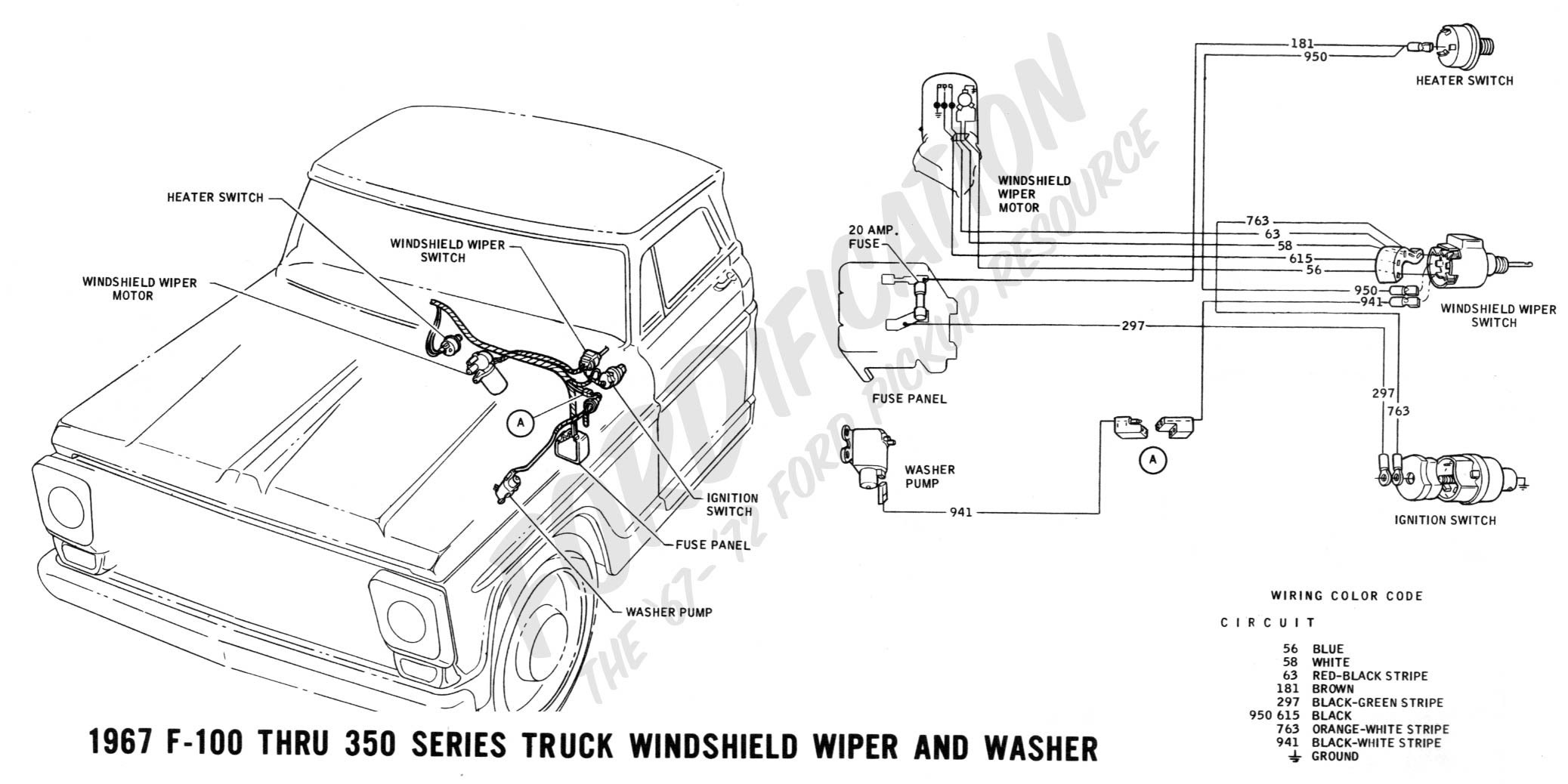 Ford Windshield Wiper Motor Wiring Diagram