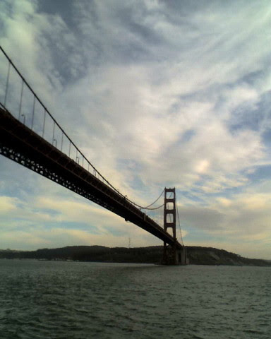 Golden Gate Bridge from a boat