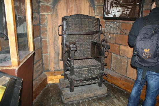 Museum of Medieval Torture Instruments: Nail chair - Torture Instrument