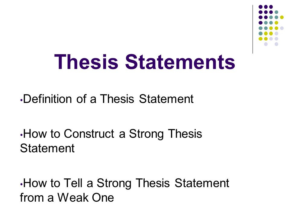 Expository essay thesis statement examples