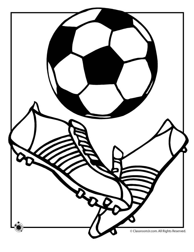 Coloring Pages Soccer Balls  AZ Coloring Pages