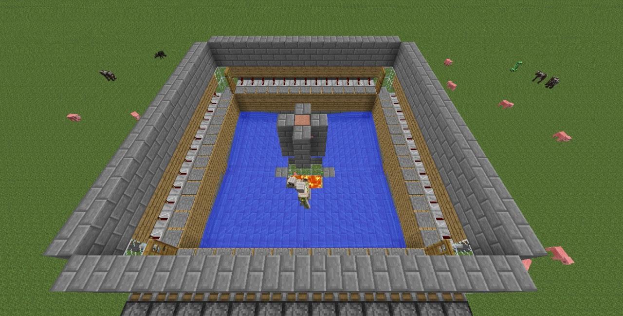 Minecraft 12w08a: Automatic Iron Golem Farm Minecraft Project