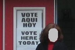 Vote aqui hoy sign