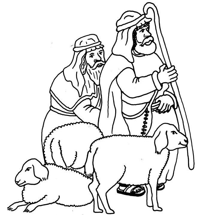 Angels and Shepherds of Bethlehem coloring pages  Angels and Shepherds printables  Angels and