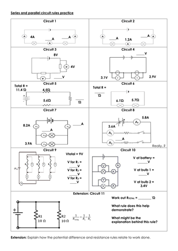 65 PDF PARALLEL CIRCUIT WORKSHEET #1 ANSWER KEY ...