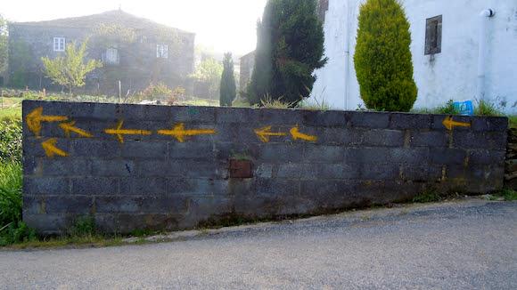 Arrows Mercadoiro, Galicia Spain, Camino de Santiago