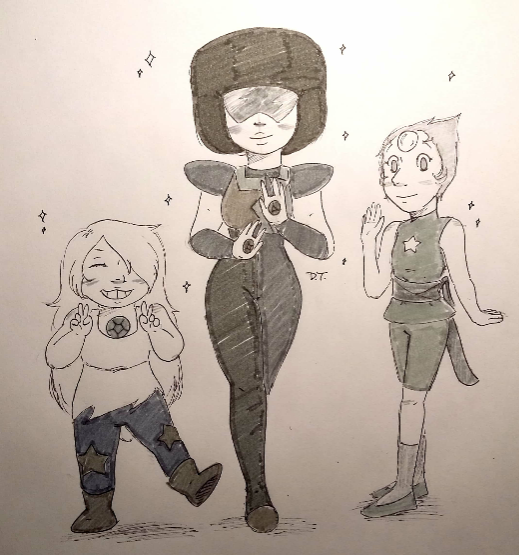 🎶We~🎶 I'm sure we were all thinking of them on this one. Day 28 of Inktober: Gem Stones