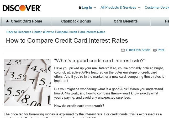Discover card: How to Compare Credit Card Interest Rates - Nicki