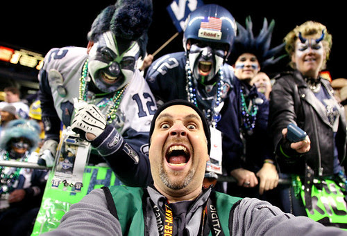 Me and Seahawks Superfans