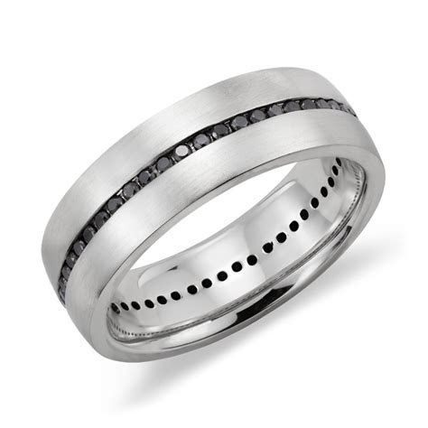 Mens White Gold Black Diamond Wedding Bands   Wedding and