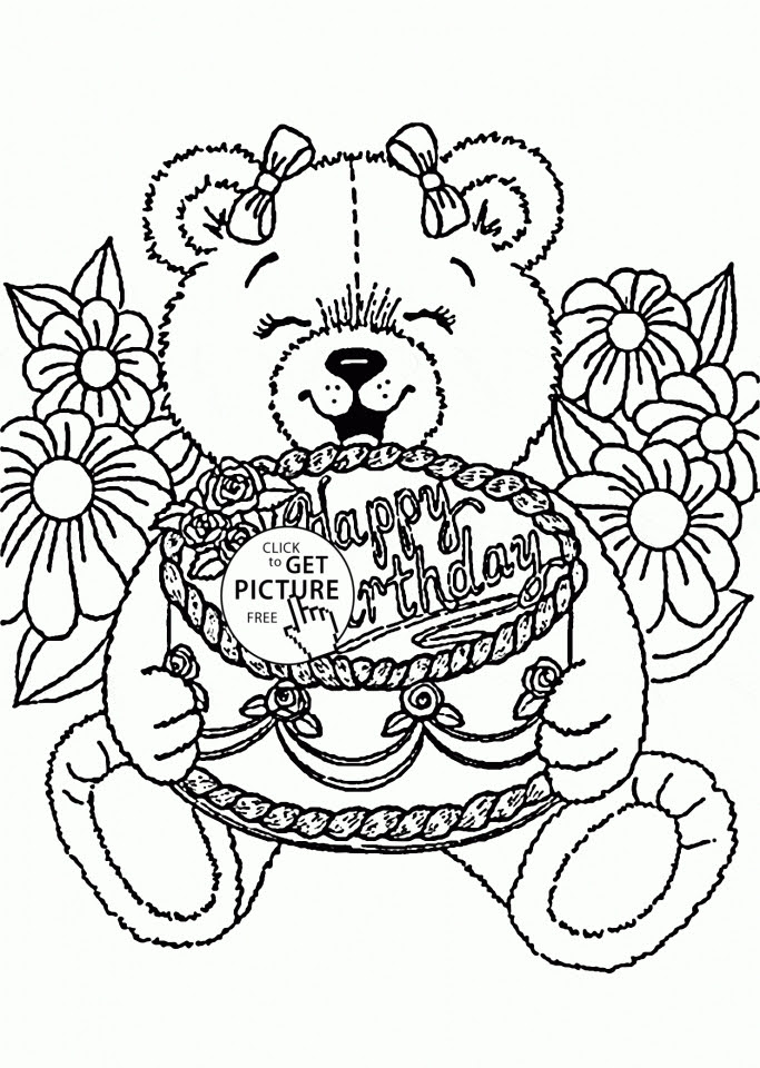Get This Happy Birthday Coloring Pages Free Printable 61840