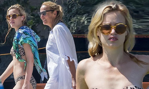 Jerry Hall and Georgia May Jagger flaunt their impressive beach bodies