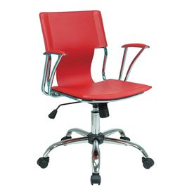 Shop Office Star Avenue Six Chrome Vinyl Task Office Chair at Lowes.
