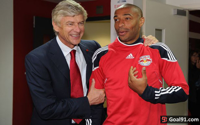 Image result for thierry henry and arsene wenger