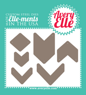 Our Chevron Bits Elle-ments Custom Steel Die are exclusive to Avery Elle.  These premium steel dies are proudly made in the USA.