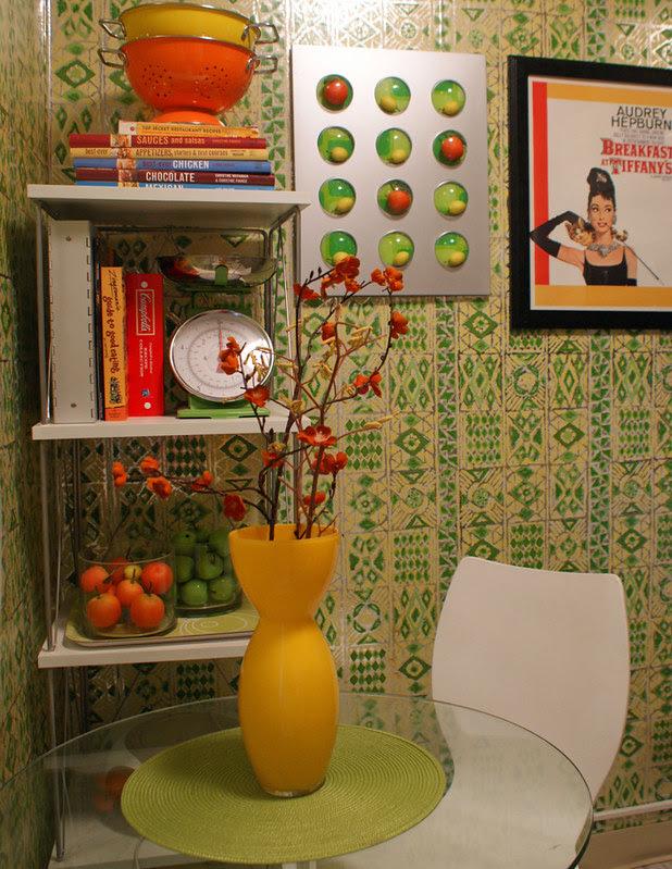 groovy green kitchen- detail